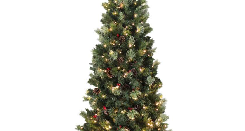 Artificial Slim Tall Christmas Tree Green Needle Pine