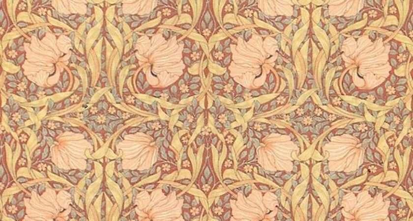 Arts Craft William Morris Tulips Red