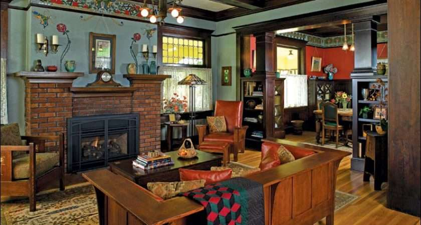 Arts Crafts Living Room Design Ideas