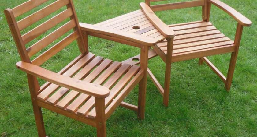 Ascot Companion Set Hardwood Garden Bench Corner Love Seat