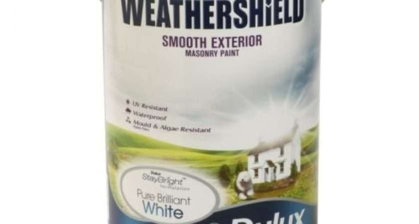 Asda Dulux Weathershield White Masonry Paint