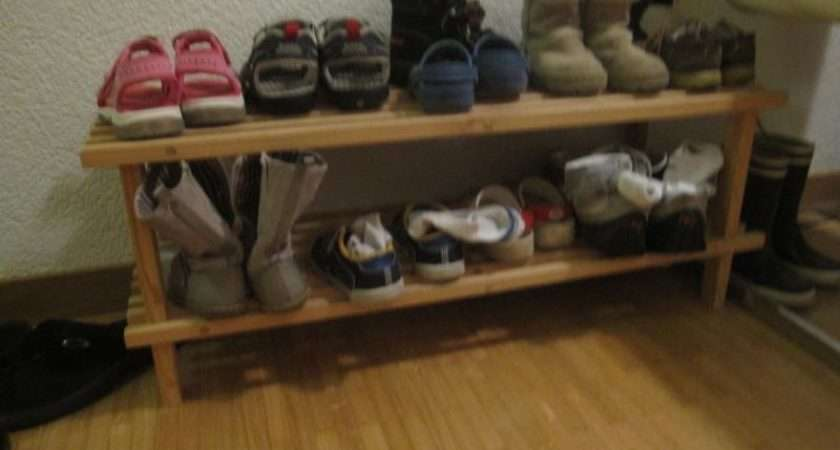 Asking Chf Ikea Wooden Shoe Rack Excluding Shoes