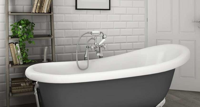 Astoria Grey Roll Top Slipper Bath Ball Claw Leg