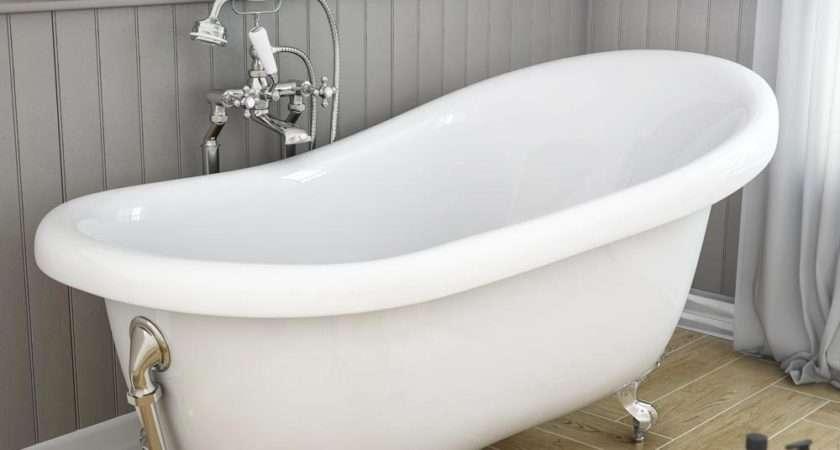 Astoria Roll Top Slipper Bath Chrome Leg Set