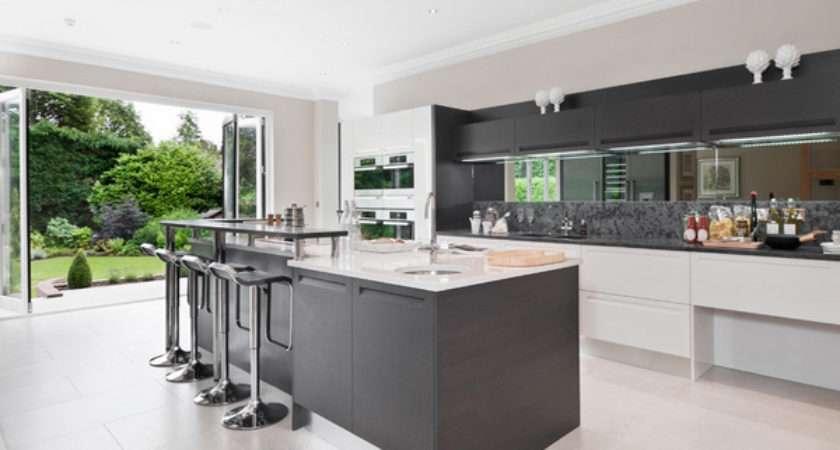 Astounding Grey Kitchen Designs Decoration House
