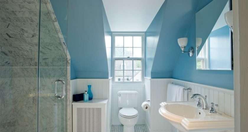 Attic Bathroom Decoration Design Drawing