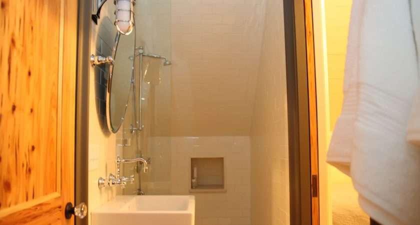 Attic Shower Cottage Bathroom Urban Grace Interiors