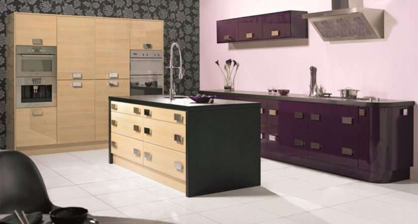 Aubergine Oak Gloss Kitchen Complete Fitted Units New Not Used