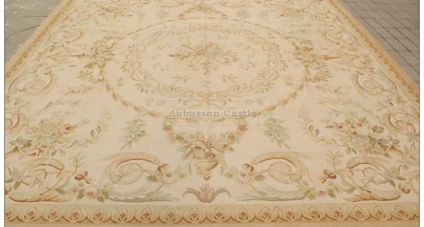 Aubusson Area Rug Ship Country Home Decor Wool Carpet Ebay