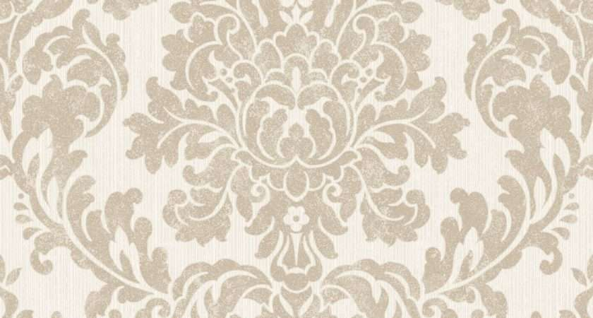 Audley Gold Damask Glitter Effect Departments
