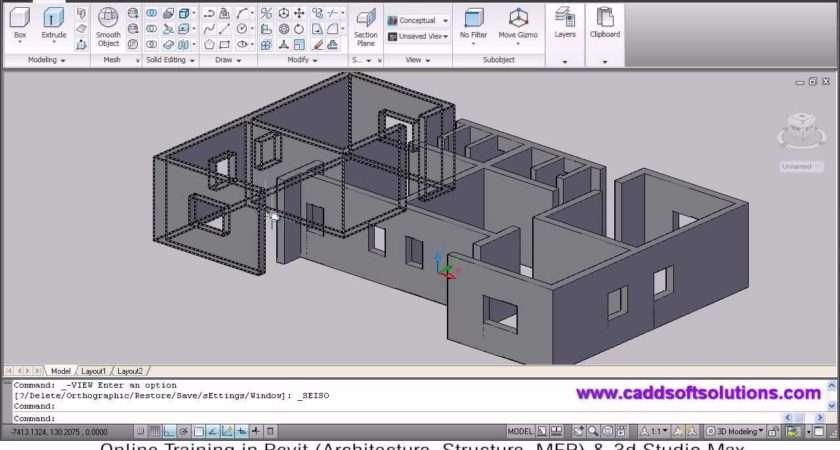Autocad House Modeling Tutorial Home Design Building