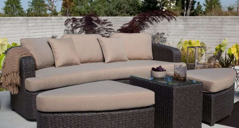 Awesome Modern Brown All Weather Outdoor Patio Sectionals