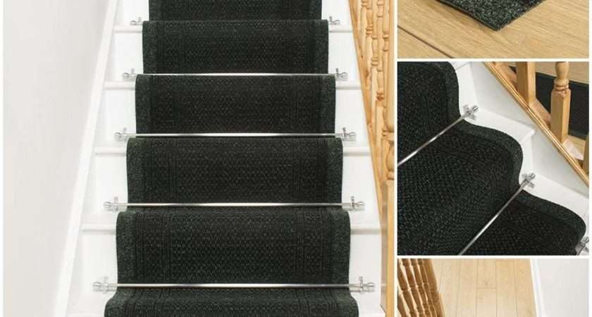 Aztec Green Stair Carpet Runner Narrow Staircase