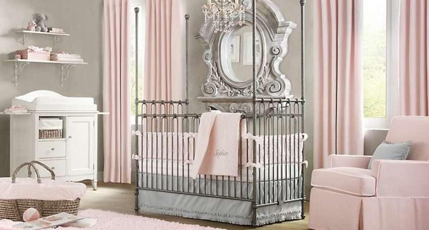 Baby Nursery Room Design Ideas Elegant Pink White Gray Girl