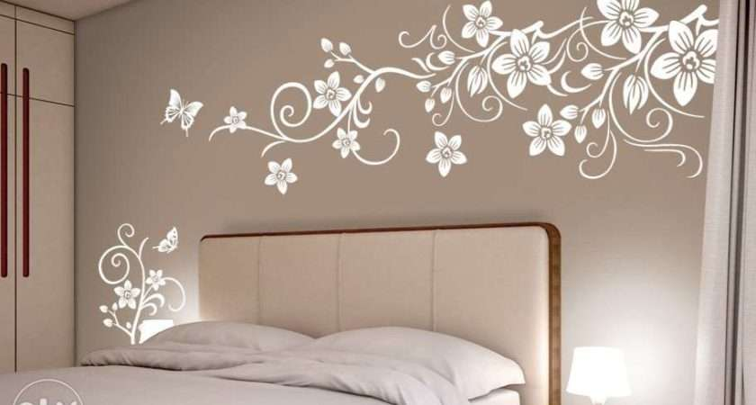 Back Flower Wall Stencil Index Study Room Ideas