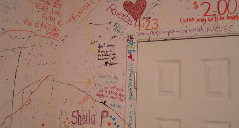 Back Paint Splattered Bedroom