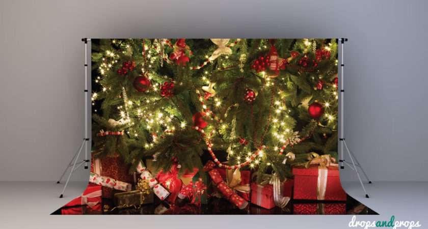 Backdrops Further Eve Years Clocks New Christmas Tree Backdrop