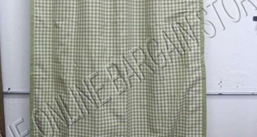 Ballard Designs Burlap Check Gingham Drapes Panels