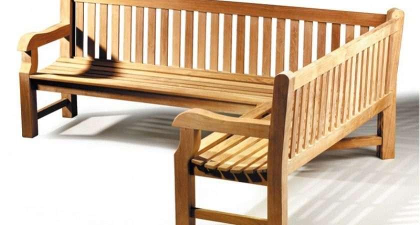 Balmoral Teak Wooden Corner Garden Bench Right Orientation