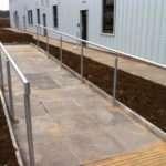 Balustrade Ramp Steps Outside Airport Hangar Morris