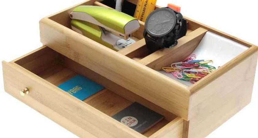 Bamboo Desk Top Tidy Woodquail Eco Gifts