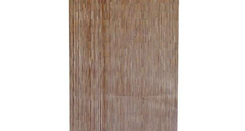 Bamboo Door Curtain Galvanized Wire Natural