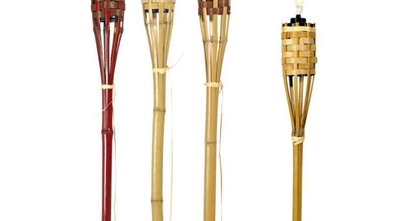 Bamboo Tiki Torches Valance