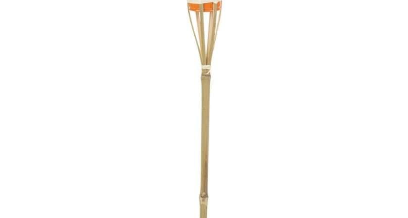 Bamboo Torch Lantern Garden Oil Paraffin Outdoor