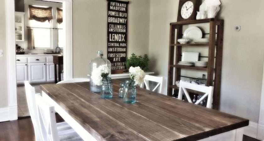 Barn Wood Shelf Behind Perfectly Lightens Room