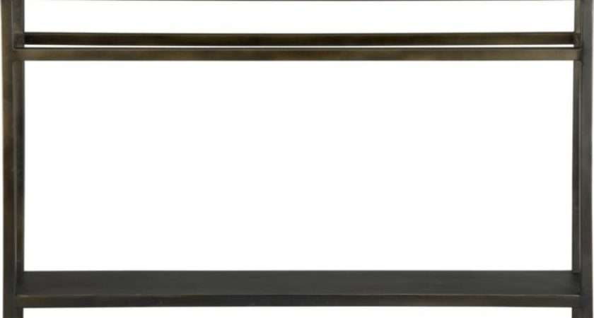 Barrel Echelon Console Table Very Slim Tuck Behind Sofa
