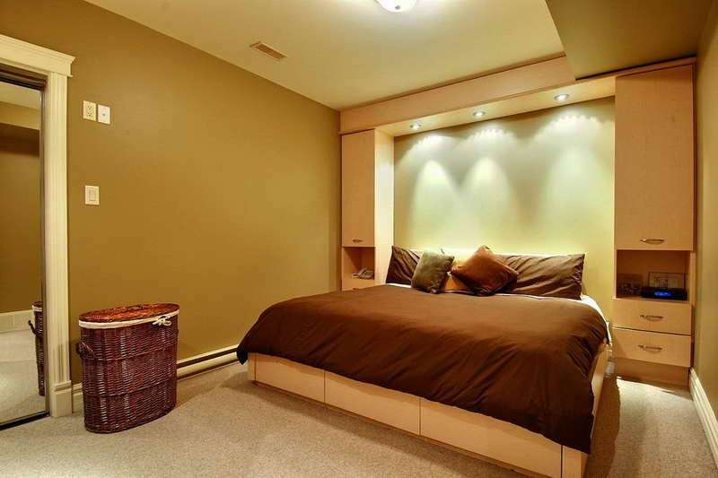 Basement Bedroom Decorating Ideas Modern Design