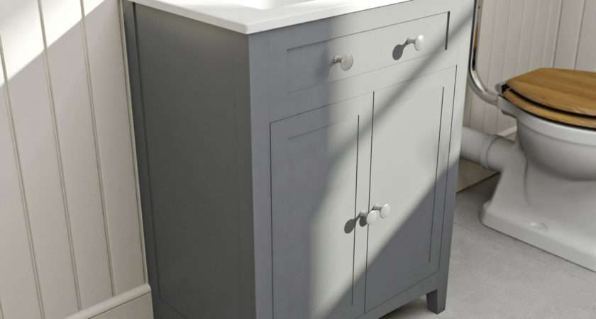 Bath Camberley Satin Grey Vanity Unit Basin