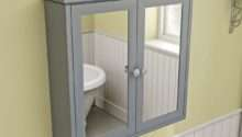Bath Camberley Satin Grey Wall Hung Mirror Cabinet