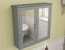 Bath Camberley Satin Grey Wall Hung Mirror Cabinet