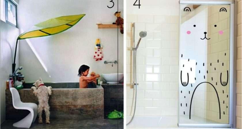 Bathroom Colorful Fun Ideas White Backdrop Idea