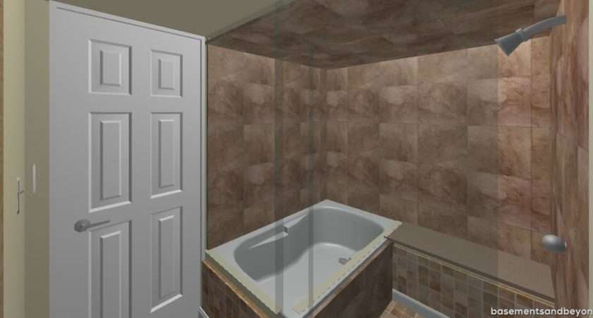Bathroom Created Wet Room Whereby Jetted Tub Shower