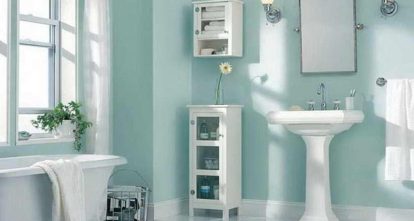 Bathroom Decorating Ideas Wall Light Blue