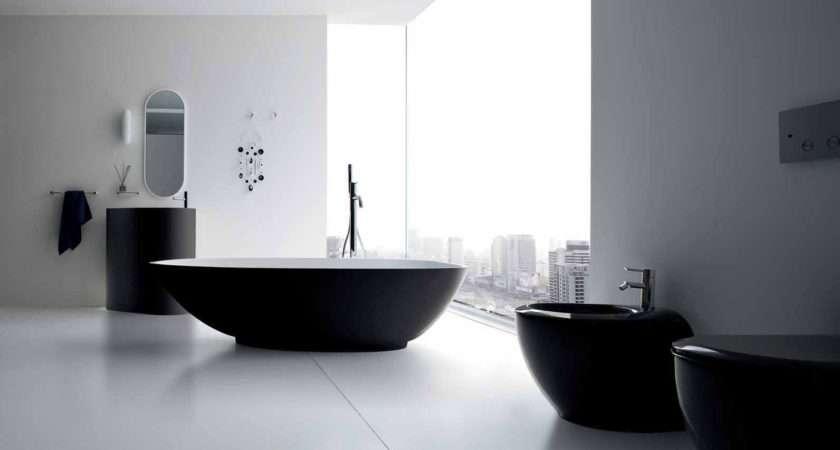 Bathroom Design Ideas Black White Home Interior