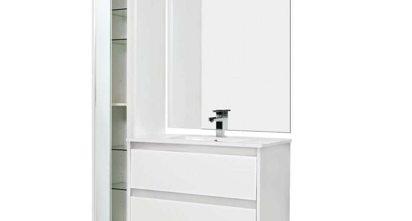 Bathroom Furniture Tallboys Attivo Tallboy Mirror Door White