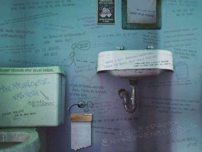 Bathroom Graffiti Damn Cool