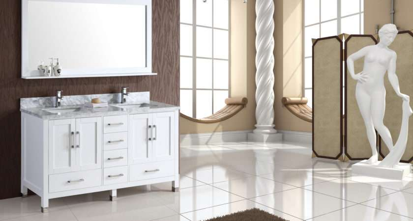 Bathroom Handsome Cabinets Vanity Standing White