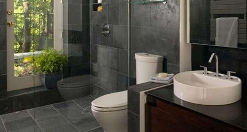 Bathroom Ideas Along Together Grey Wall Tiles
