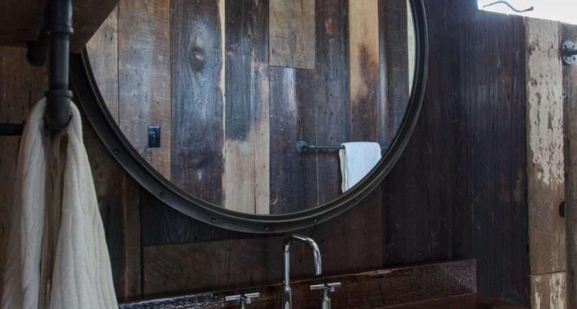 Bathroom Light Wood Rustic Mirror Frame
