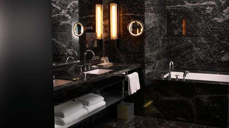 Bathroom Pinterest Black Bathrooms Tile