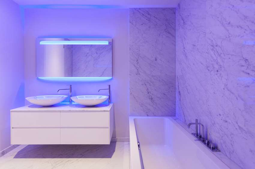 Bathroom Purple Neon Mood Lighting