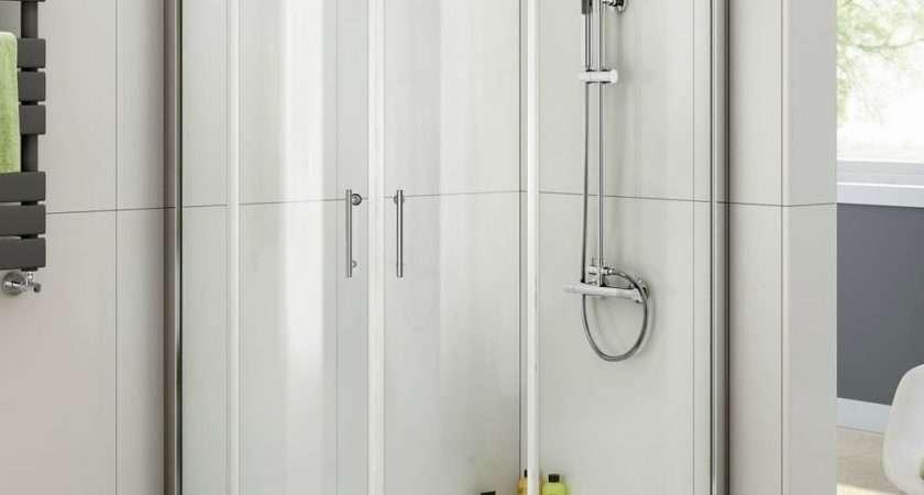 Bathroom Quadrant Shower Enclosure Tray Left