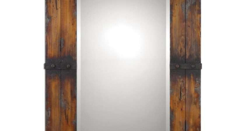 Bathroom Reclaimed Wood Mirror Frame Rustic
