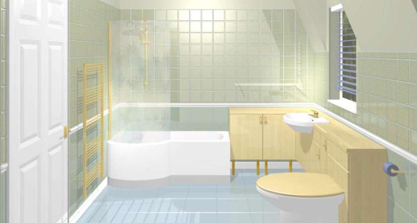 Bathroom Sloping Ceiling Shaped Bath