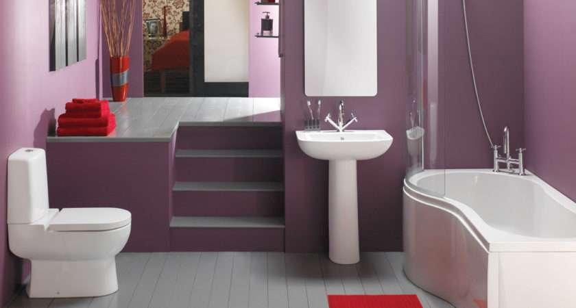 Bathroom Small Designs Dark Brown Ceramic Tile Floor