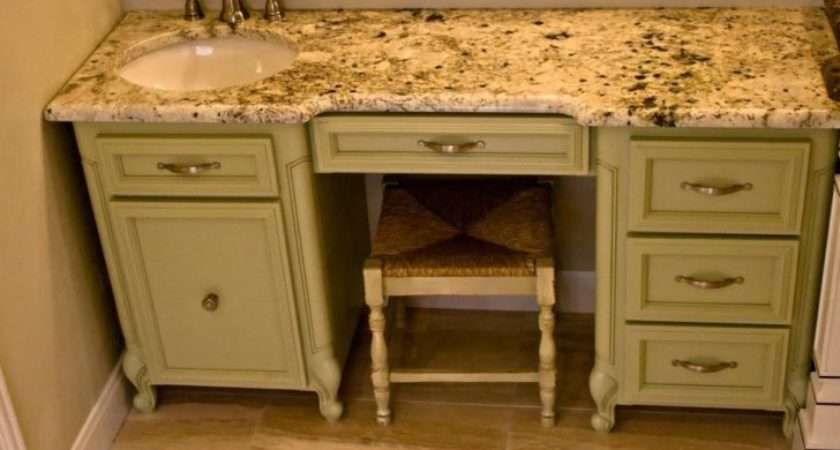 Bathroom Standing Built Cabinets Vanities Medium Wood